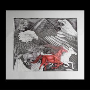 The Four Horsemen- matted print
