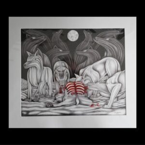 The Feast- matted print
