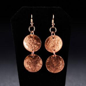 Double Copper Earrings